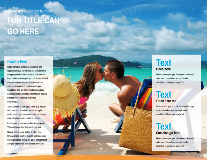 Sunny Travel Brochure Template Preview 3