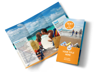 Sunny Travel Tri-Fold Brochure Template preview