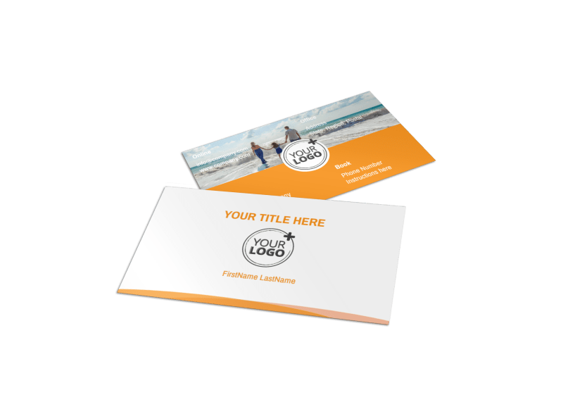 Sunny Travel Business Card Template Preview 1