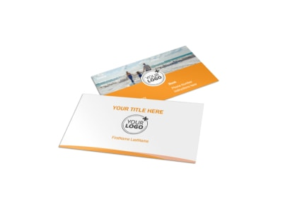 Sunny Travel Business Card Template preview