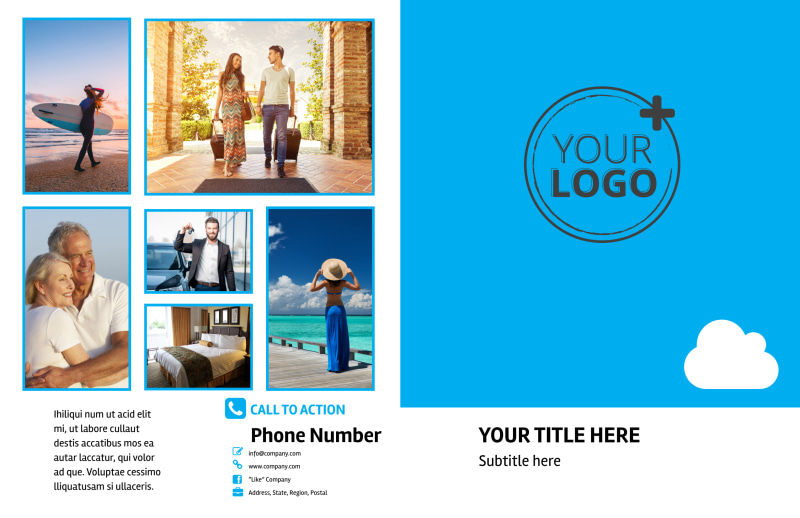 Air Travel Package Brochure Template Preview 2