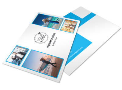 Air Travel Package Postcard Template 2 preview