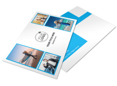 Air Travel Package Postcard Template 2