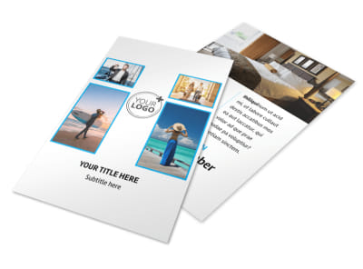 Air Travel Package Flyer Template 3