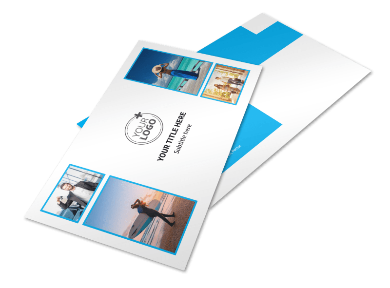 Air Travel Package Postcard Template Preview 1
