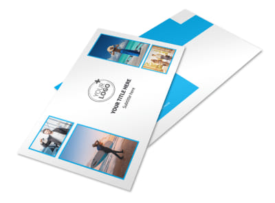 Air Travel Package Postcard Template