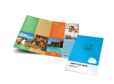 Air Travel Package Bi-Fold Brochure Template