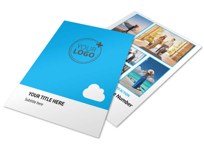 Air Travel Package Flyer Template Preview 1