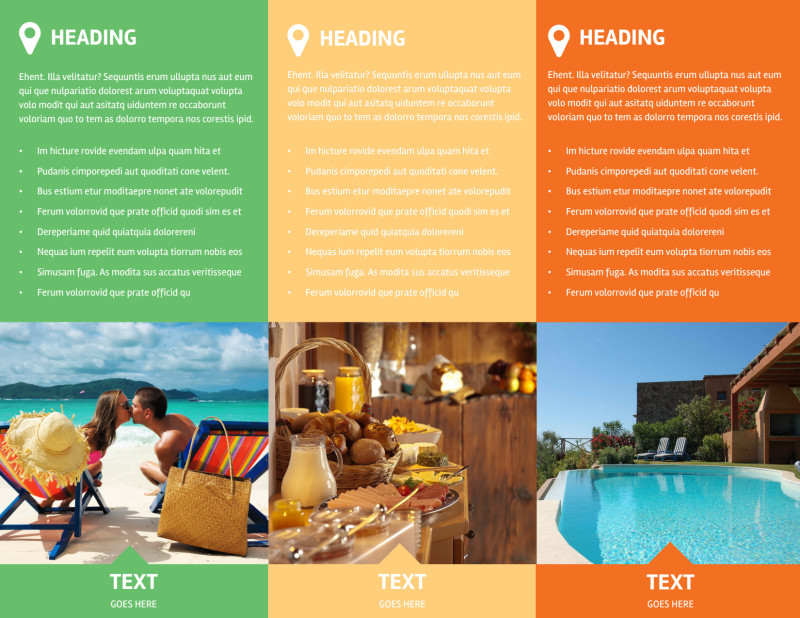 Air Travel Package Brochure Template Preview 3