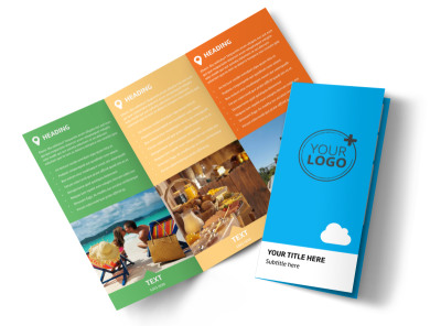 Air Travel Package Tri-Fold Brochure Template preview