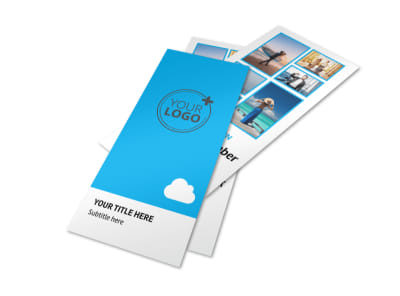 Air Travel Package Flyer Template 2