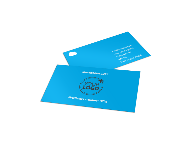 Air Travel Package Business Card Template Preview 1