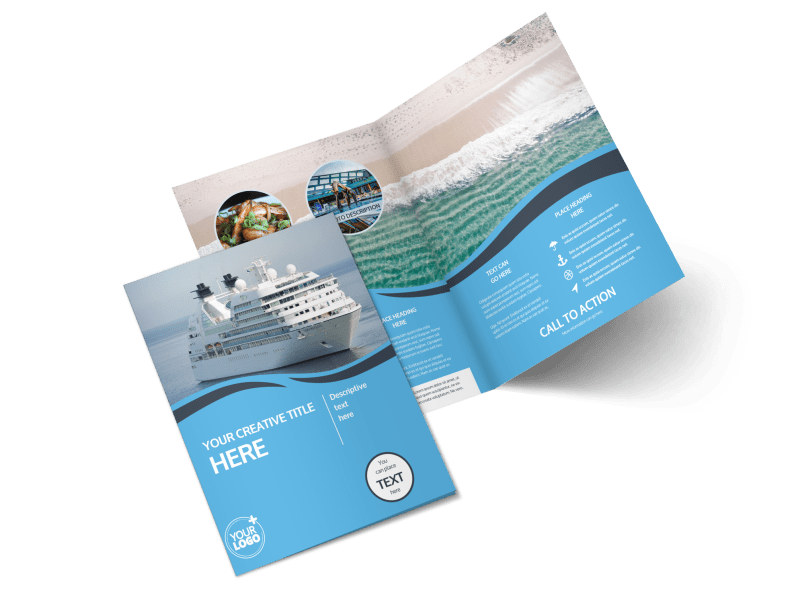 Cruise Ship Travel Bi-Fold Brochure Template 2