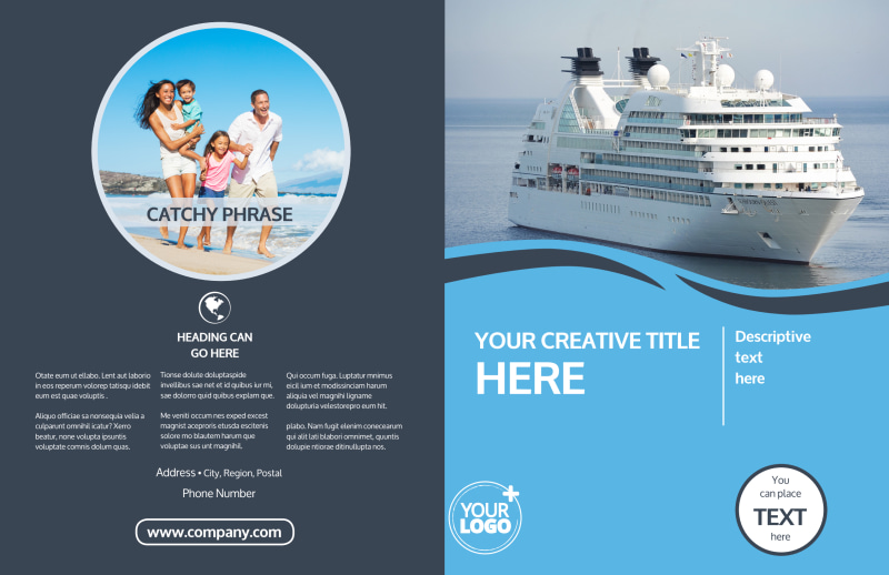 Cruise Ship Travel Brochure Template Preview 2