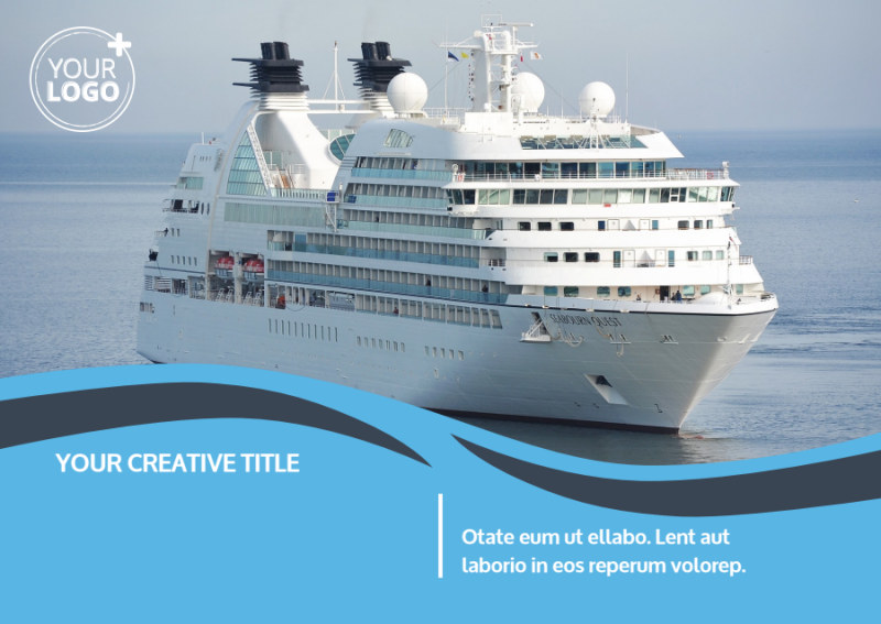 Cruise Ship Travel Postcard Template Preview 2