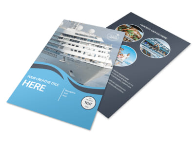 Cruise Ship Travel Flyer Template 3