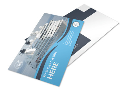 Cruise Ship Travel Postcard Template preview