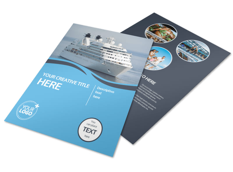 cruise ship travel flyer template