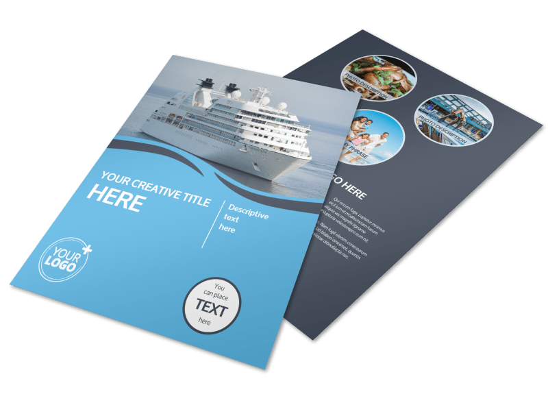 Cruise Ship Travel Flyer Template Preview 1