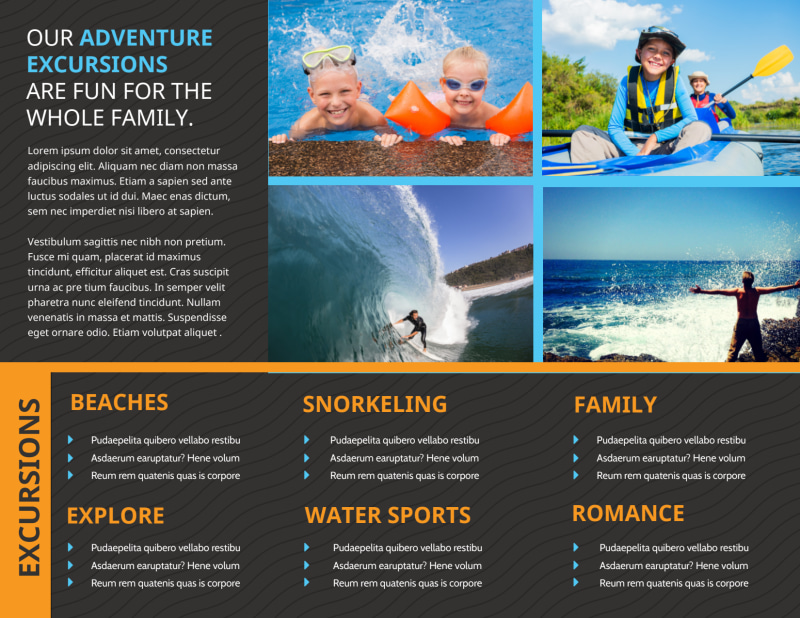Cruise Ship Travel Brochure Template Preview 3