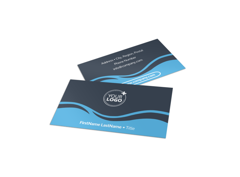 Cruise Ship Travel Business Card Template Preview 1