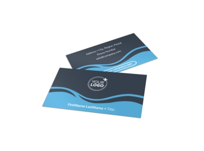 Cruise Ship Travel Business Card Template