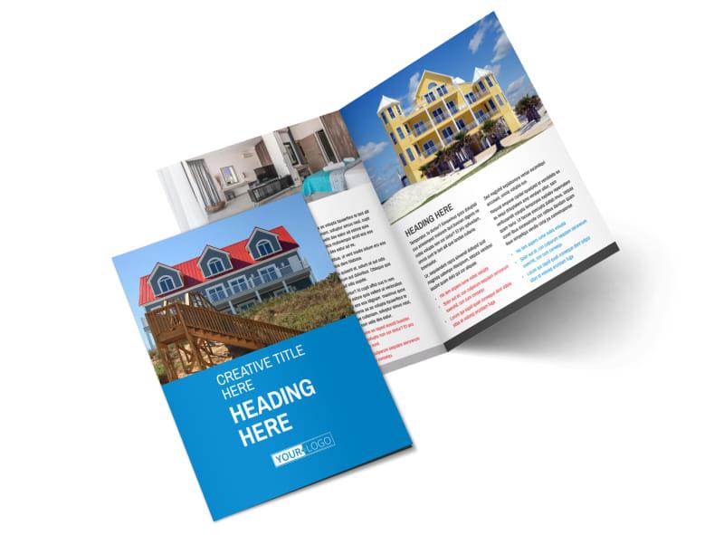 Villa Rental Bi-Fold Brochure Template 2
