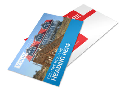 Villa Rental Postcard Template 2