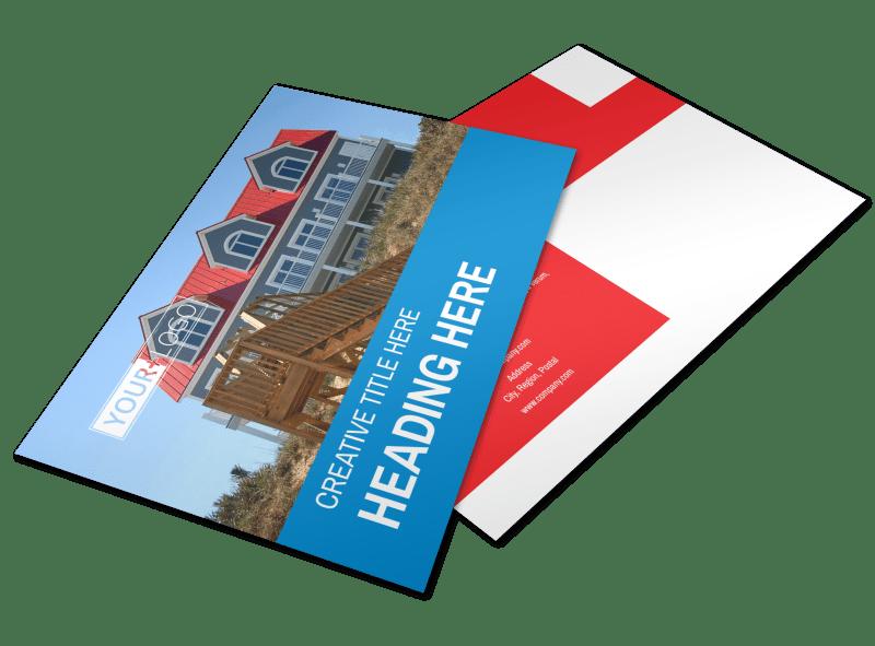 Villa Rental Postcard Template Preview 1