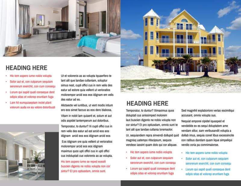 Villa Rental Brochure Template Preview 3
