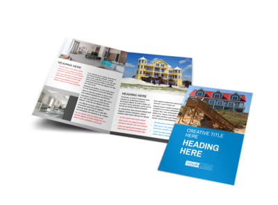Villa Rental Bi-Fold Brochure Template