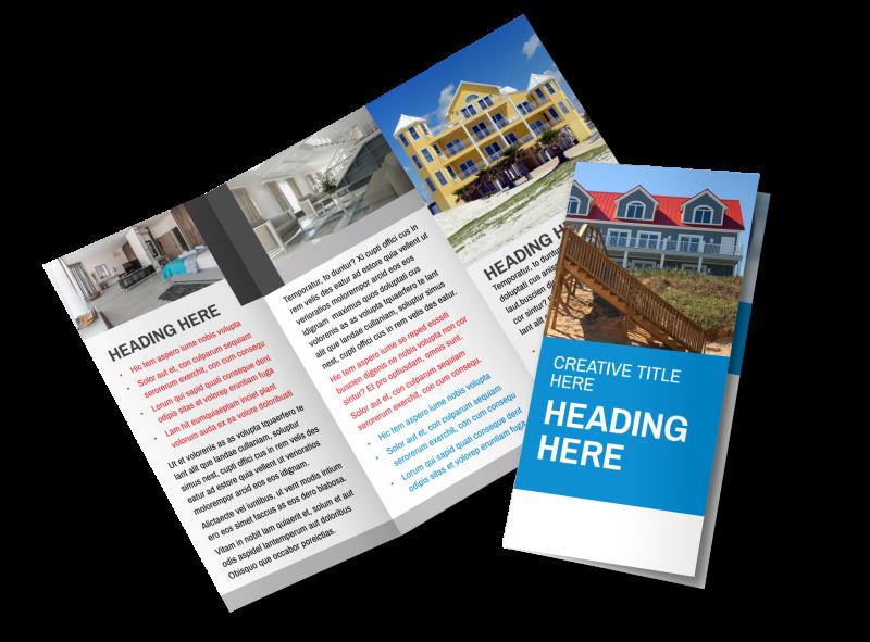 Villa Rental Brochure Template Preview 1