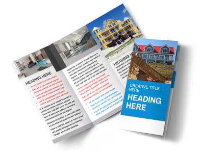 Villa Rental Tri-Fold Brochure Template
