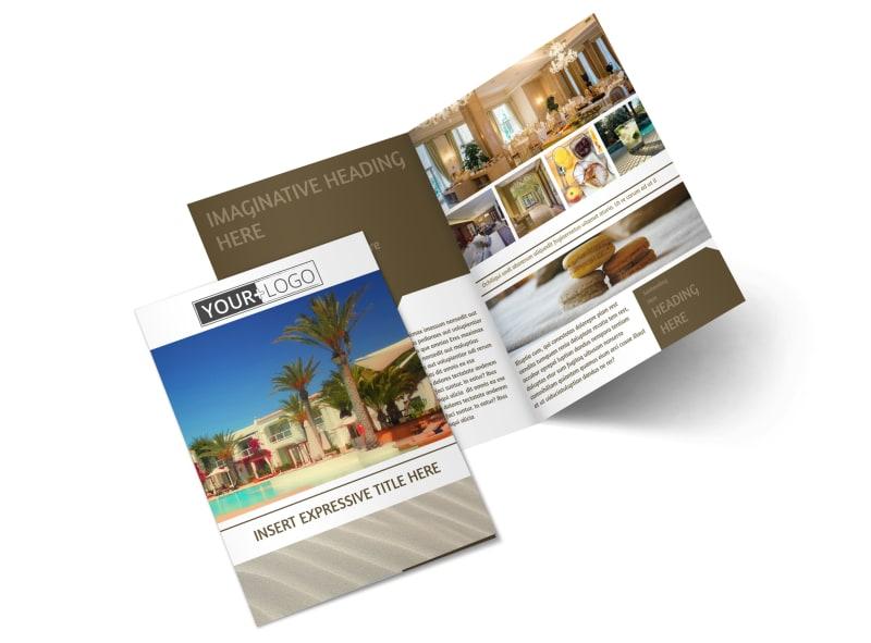Luxury Hotels Bi-Fold Brochure Template 2