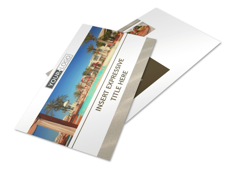 Luxury Hotels Postcard Template 2