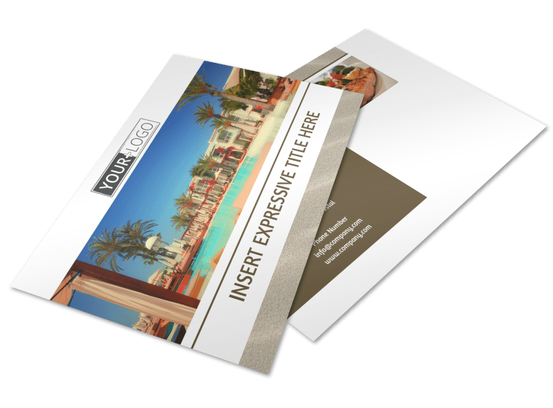 Luxury Hotels Postcard Template Preview 1