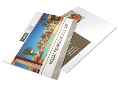 Luxury Hotels Postcard Template preview