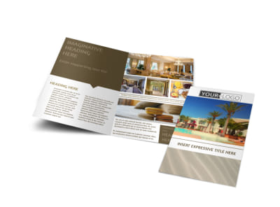 Luxury Hotels Bi-Fold Brochure Template