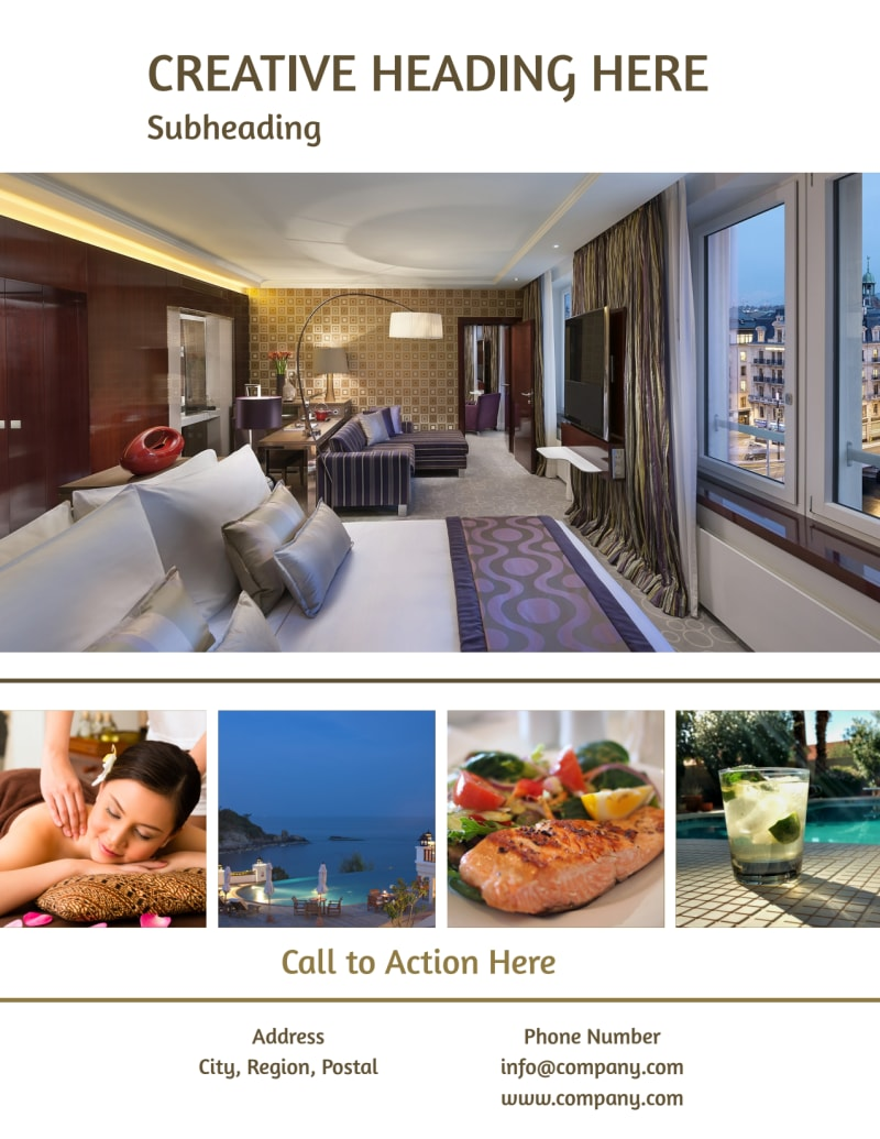 Luxury Hotels Flyer Template Preview 3