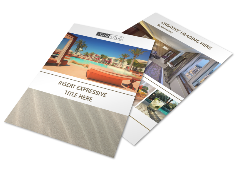 Luxury Hotels Flyer Template Preview 1