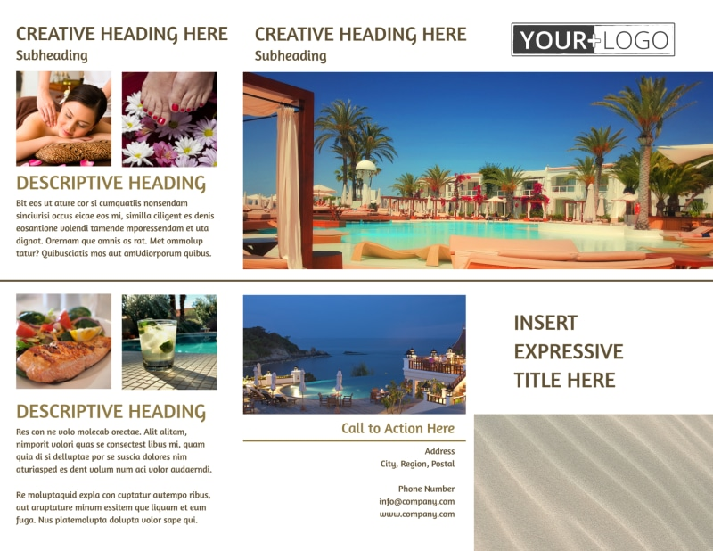 Luxury Hotels Brochure Template Preview 2