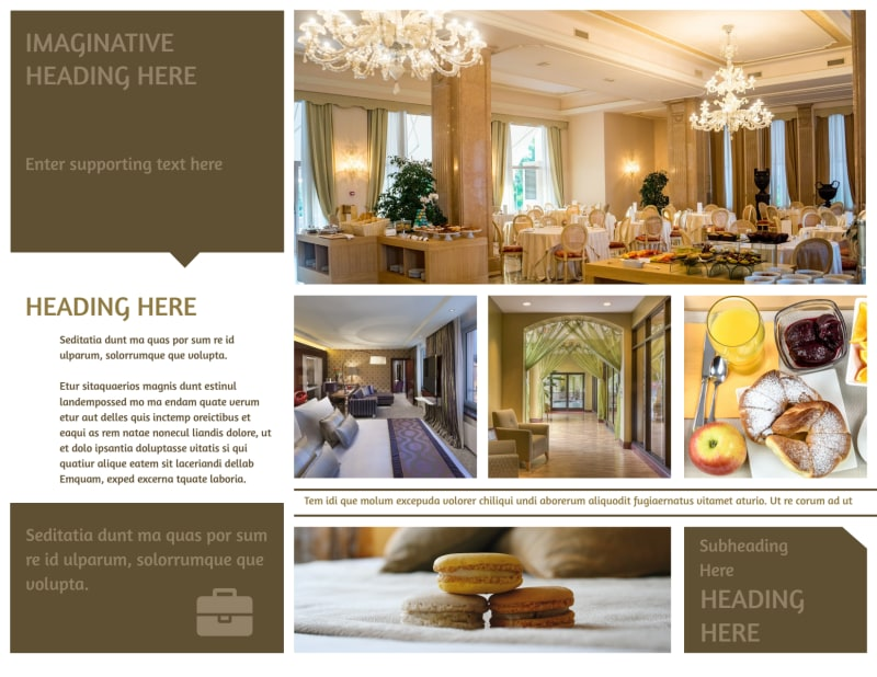 Luxury Hotels Brochure Template Preview 3