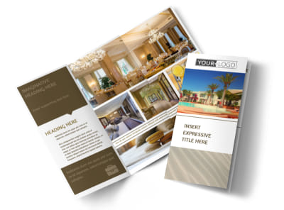 Luxury Hotels Tri-Fold Brochure Template