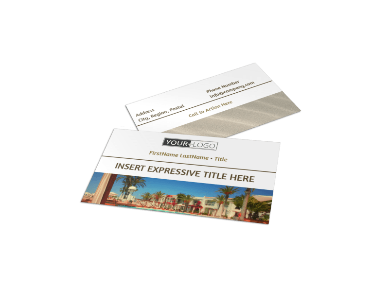 Luxury Hotels Business Card Template Preview 1