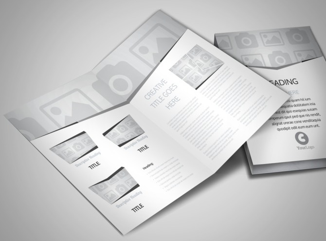 blank travel brochure template - travel agency bi fold brochure template