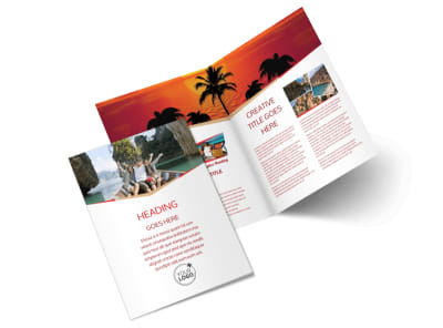 Travel Agency Bi-Fold Brochure Template 2 preview