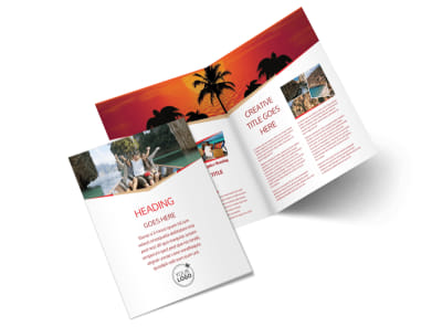 Great Travel Agency Bi Fold Brochure Template 2