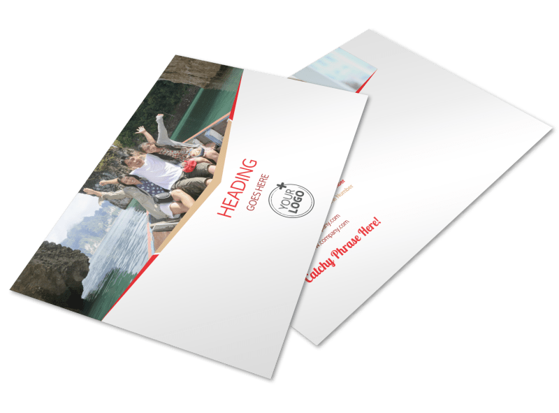 Leading Travel Agents Postcard Template Preview 1