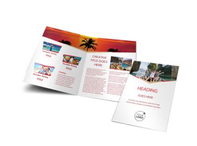 Travel Agency Bi-Fold Brochure Template preview