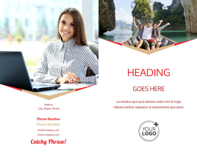 Leading Travel Agents Brochure Template Preview 1